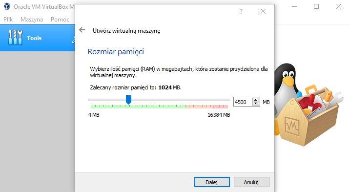 Przydzielanie RAM maszynie wirtualnej