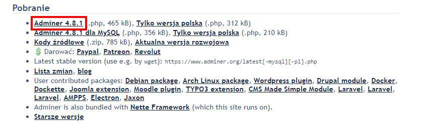 adminer.php pobieranie