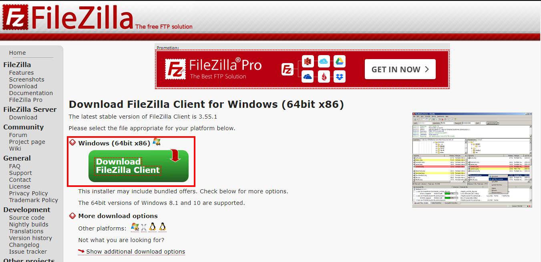 FileZilla pobieranie programu